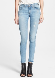 rag & bone/JEAN 'The Skinny' Distressed Jeans (Harbour)