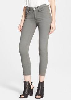 rag & bone/JEAN 'The Skinny' High Rise SKinny Jeans (Distressed Sage)