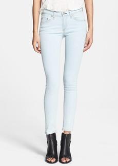 rag & bone/JEAN 'The Skinny' Low Rise Jeans (White Water)