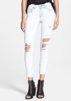 rag & bone/JEAN 'The Zipper' Crop Jeans (Shredded Bleachout)