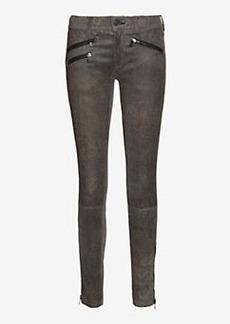 rag & bone/JEAN Triple Zipper Leopard Print Leather Skinny