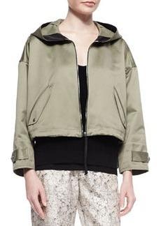 Randi Cropped Shimmery Cotton Jacket   Randi Cropped Shimmery Cotton Jacket