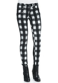 RBW 23 White Buffalo Check Zip-Pocket Twill Jeans   RBW 23 White Buffalo Check Zip-Pocket Twill Jeans