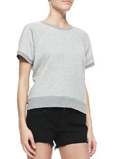 Rocky Short-Sleeve Knit Sweatshirt   Rocky Short-Sleeve Knit Sweatshirt