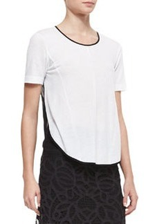 Rose Scoop-Neck Tee   Rose Scoop-Neck Tee