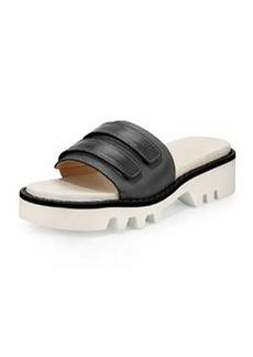 Rag & Bone Seldon Leather Sandal Slide, Black