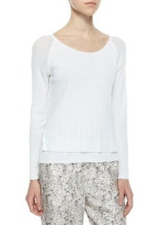 Shari Layered Knit Pullover   Shari Layered Knit Pullover