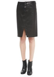 Tampa Leather Scissor-Front Skirt   Tampa Leather Scissor-Front Skirt