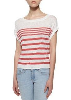 The Christa Striped Linen Top   The Christa Striped Linen Top
