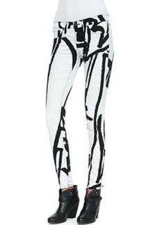 The Legging Jeans, White Robot   The Legging Jeans, White Robot