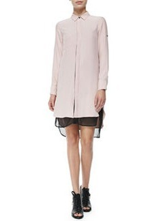 The Shirtdress with Double-Layer Hem, Antique Rose   The Shirtdress with Double-Layer Hem, Antique Rose