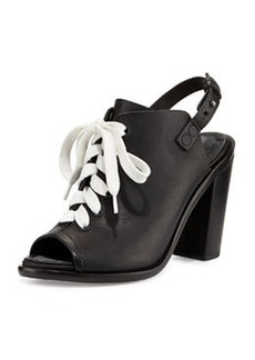 Trafford Lace-Up Peep-Toe Bootie, Black   Trafford Lace-Up Peep-Toe Bootie, Black