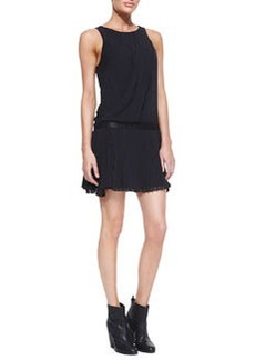 Vanessa Sleeveless Dress With Pleats   Vanessa Sleeveless Dress With Pleats