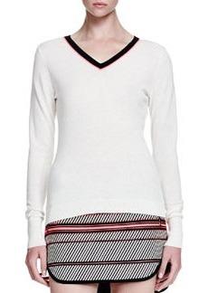 Vivian Contrast V-Neck Sweater   Vivian Contrast V-Neck Sweater