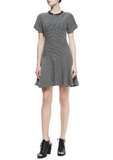 Watson Flared Micro Houndstooth Dress   Watson Flared Micro Houndstooth Dress