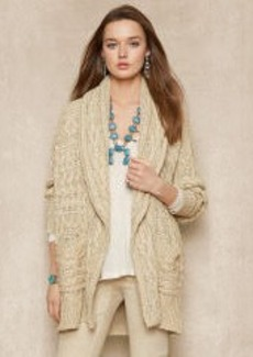 Aran Shawl-Collar Cardigan