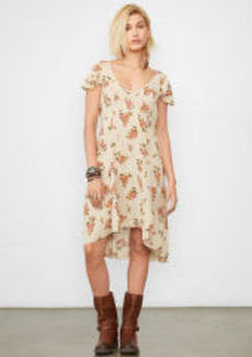 Autumn Bloom Tea-Length Dress