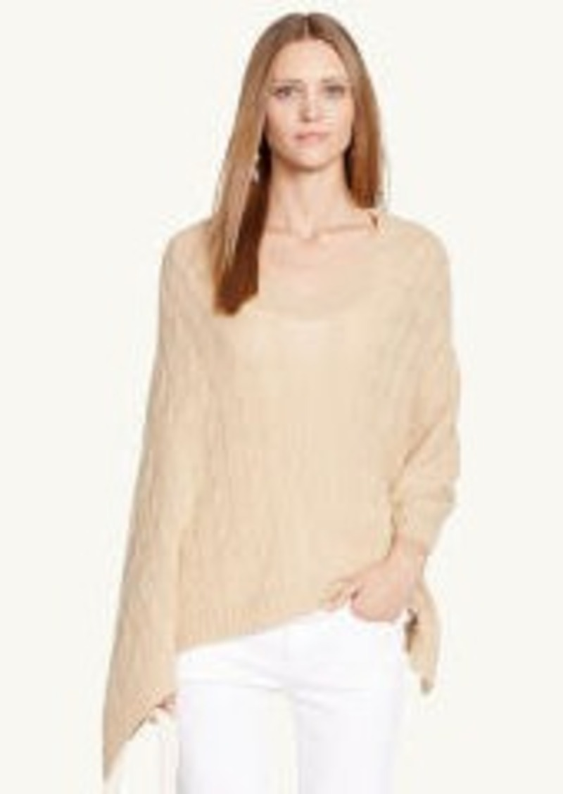 Ralph Lauren Cable-Knit Cashmere Poncho Sweaters - Shop ...