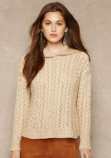 Cable-Knit Linen-Silk Pullover