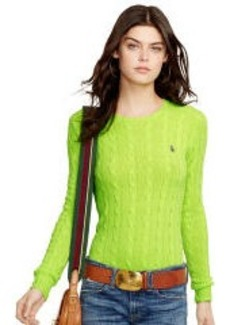 Cabled Crewneck Sweater