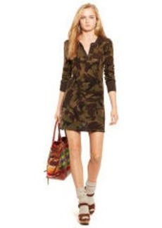 Camo Henley Shirtdress