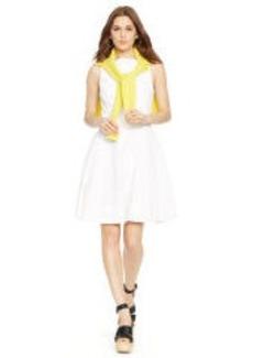 Cotton Sleeveless V-Back Dress