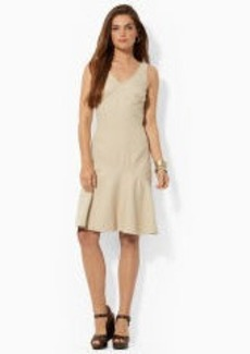 Cotton V-Neck Tank Dress