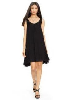 Crinkled Silk Chiffon Dress