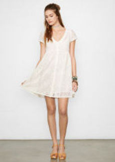 Crocheted Button-Front Dress