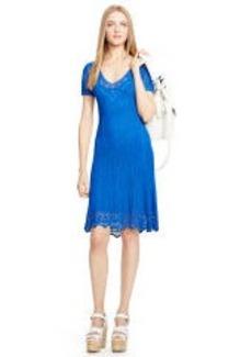 Crocheted V-Neck Dress