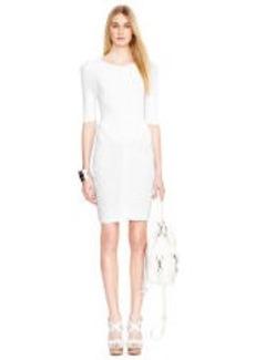 Crop-Sleeved Knit Dress