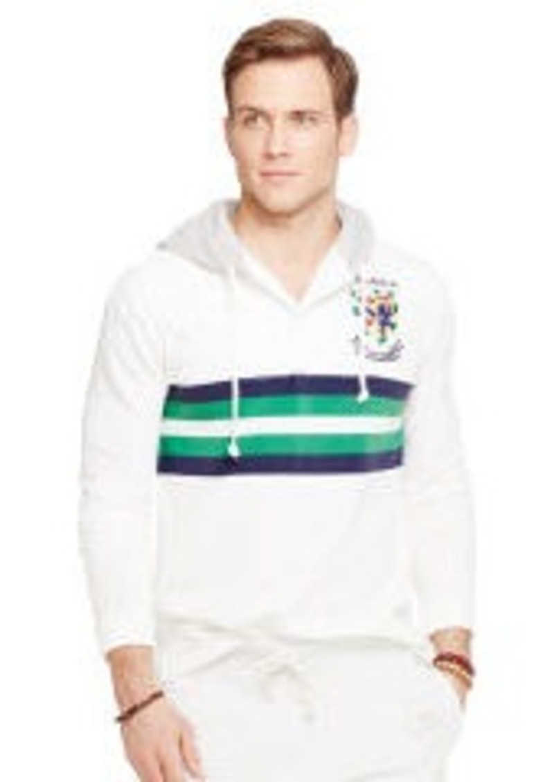 Ralph Lauren Custom Fit Hooded Rugby Shirt Casual Shirts