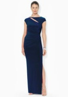 Cutout Jersey Evening Gown