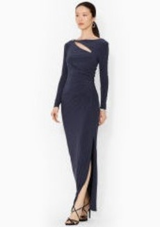 Cutout Long-Sleeved Gown