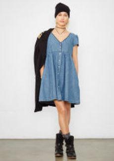 Denim Buttoned-Front Dress