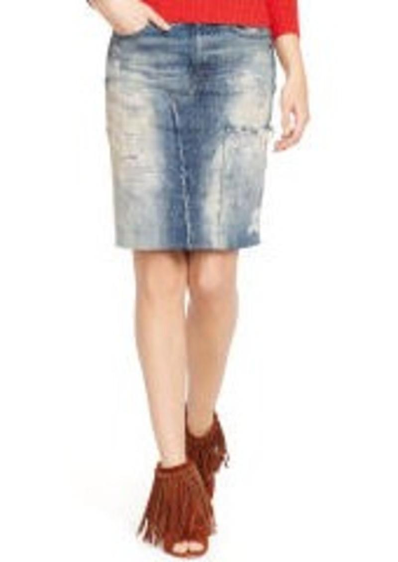 ralph denim pencil skirt skirts shop it to me