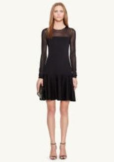 Drop-Waist Crewneck Dress