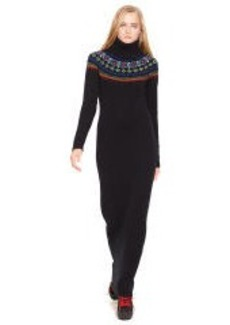 Fair Isle Turtleneck Dress