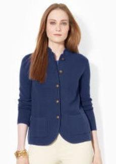 Five-Button Cotton Sweater