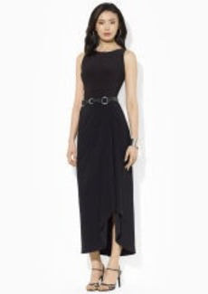 Floor-Length Boatneck Dress