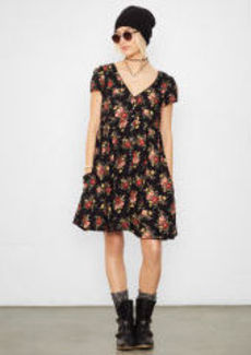 Floral Buttoned-Front Dress