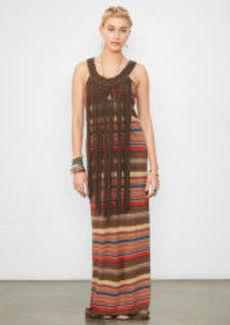 Fringed Striped Tank Dress
