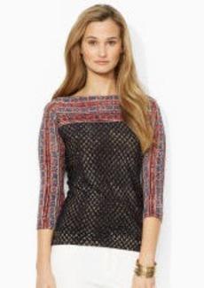 Geometric Boatneck Sweater