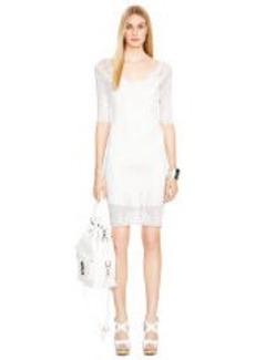 Hand-Crocheted V-Neck Dress
