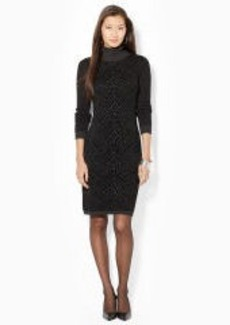 Jacquard-Knit Turtleneck Dress