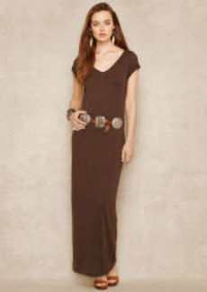 Jersey V-Neck Maxidress
