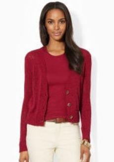 Knit Cotton-Blend Sweater