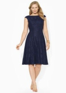 Lace Cap-Sleeved Dress