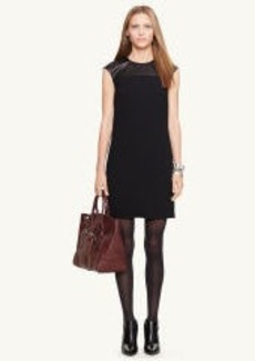 Lambskin-Trim Brooke Dress