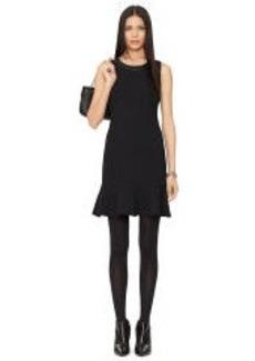 Lambskin-Trim Lorelai Dress